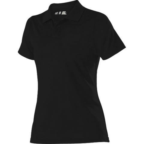 Alleson GPL5W Women's Gameday Polo - Black - Band, Bowling, Fanwear, Golf - Hit A Double