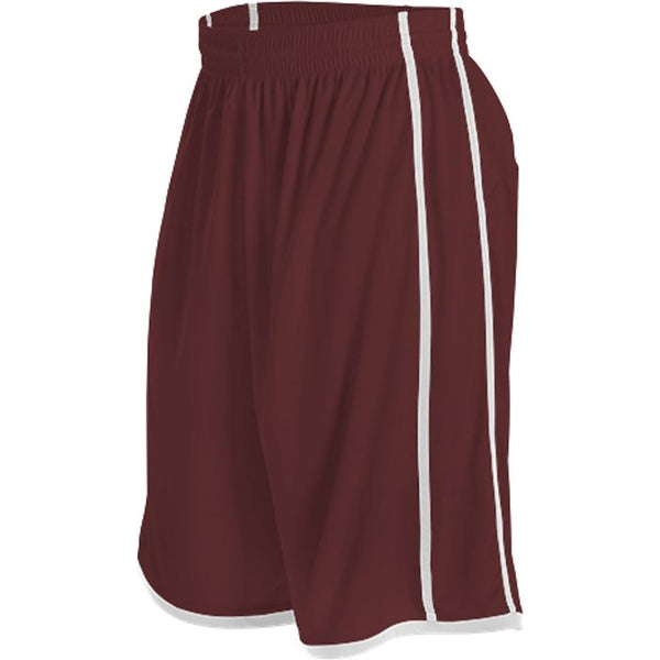 Alleson 535P Adult Basketball Short - Maroon White