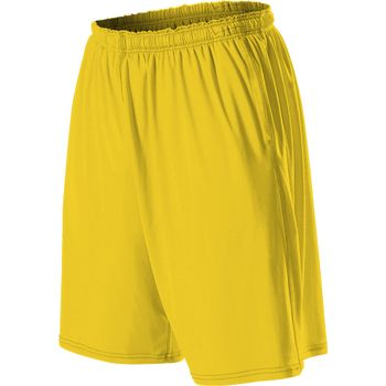 Alleson 599KPP Adult Training Short with Pockets - Light Gold