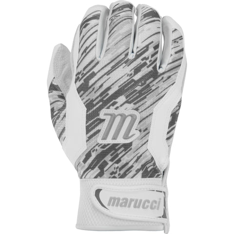 Marucci Adult Quest Batting Gloves - White Gray Camo - Batting Gloves - Hit A Double - 1