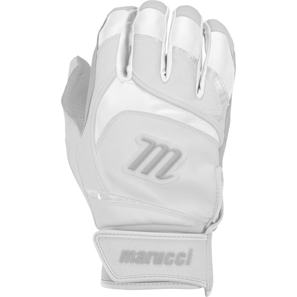 Marucci Adult Signature Batting Gloves - White - Batting Gloves - Hit A Double - 1