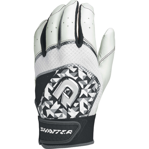 DeMarini Shatter Adult Batting Gloves - Black Print