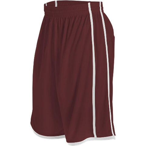 Alleson 535PW Women's Basketball Short - Maroon White - Basketball - Hit A Double