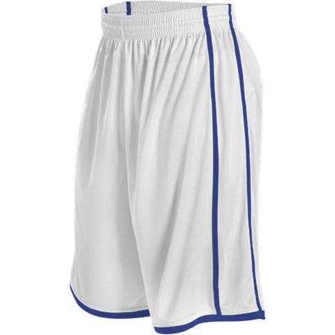 Alleson 535P Adult Basketball Short - White Royal
