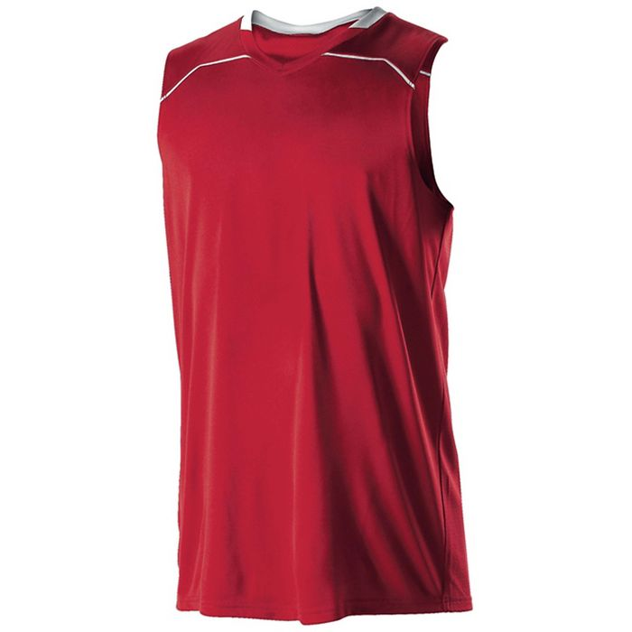27227a367 Alleson 537JW Women s Basketball Jersey - Scarlet White – HIT A Double