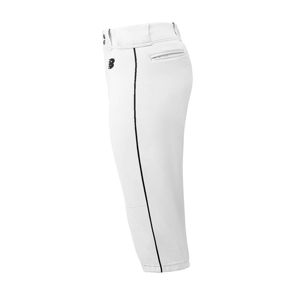 New Balance Adversary Adult Piped Knicker - White Black - Baseball Apparel, Softball Apparel - Hit A Double - 1