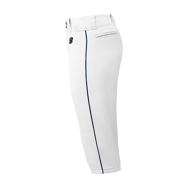New Balance Adversary Adult Piped Knicker - White Navy - Baseball Apparel, Softball Apparel - Hit A Double - 1