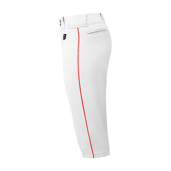 New Balance Adversary Adult Piped Knicker - White Red - Baseball Apparel, Softball Apparel - Hit A Double - 1