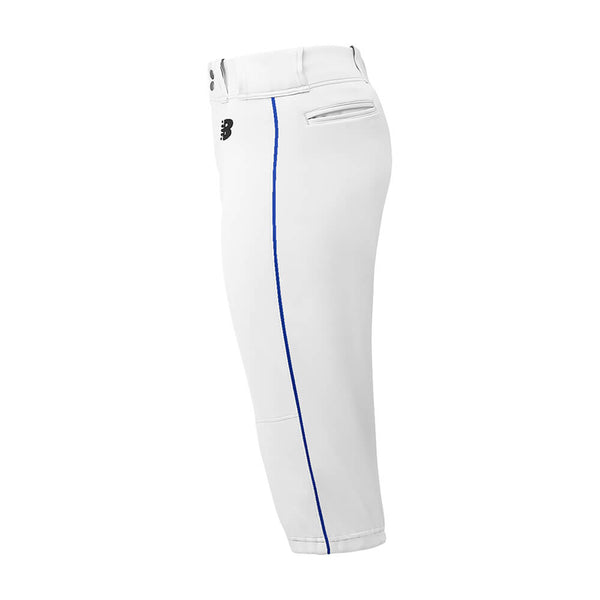 New Balance Adversary Adult Piped Knicker - White Royal - Baseball Apparel, Softball Apparel - Hit A Double - 1