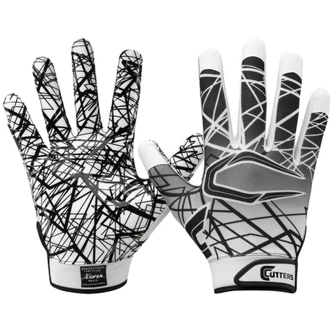 Cutters S150 Game Day Receiver Gloves - White