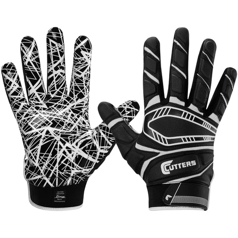 Cutters S750 Game Day Padded Gloves - Black - HIT A Double