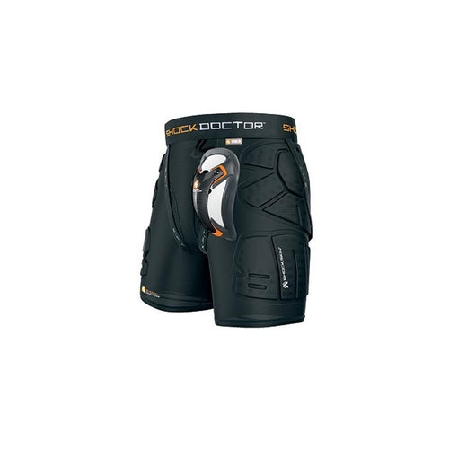Shock Doctor 563 Shockskin Relaxed Fit Impact Short with Ultra Carbon Flex Cup - Black
