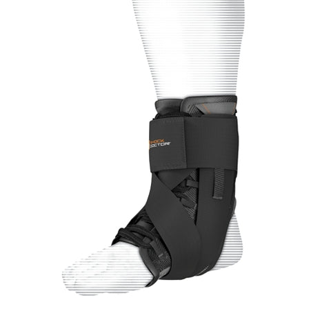 Shock Doctor 851 Ultra Wrap Lace Ankle Support Adult - Black - HIT A Double