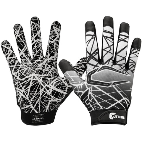 Cutters S150 Game Day Receiver Gloves - Black - HIT A Double