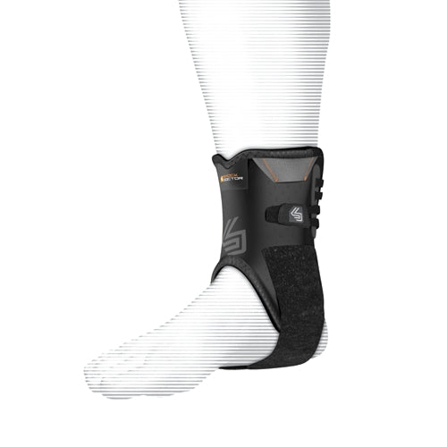 Shock Doctor 847 Ankle Stabilizer with Flexible Support Stays Adult - Black - HIT A Double
