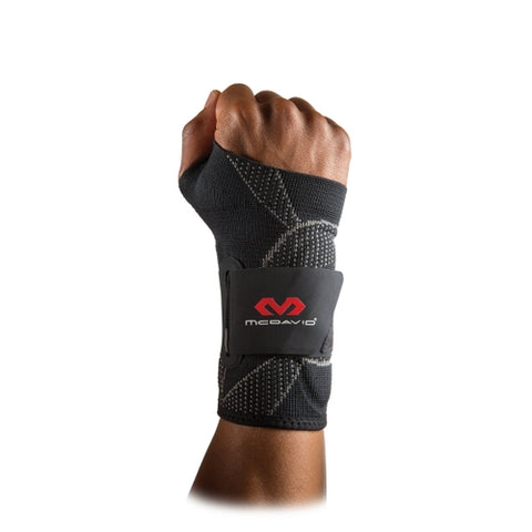 McDavid MD5131 Wrist Sleeve Adult Way Elastic with Gel Buttresses and Straps - Black - HIT A Double