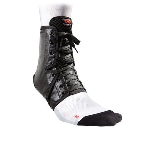 McDavid MDA101 Ankle Brace Lace Up with Inserts Adult - Black - HIT A Double