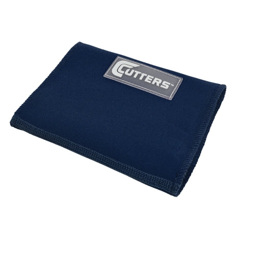 Cutters 0197 Triple Playmaker Wrist Coach Wristband - Navy