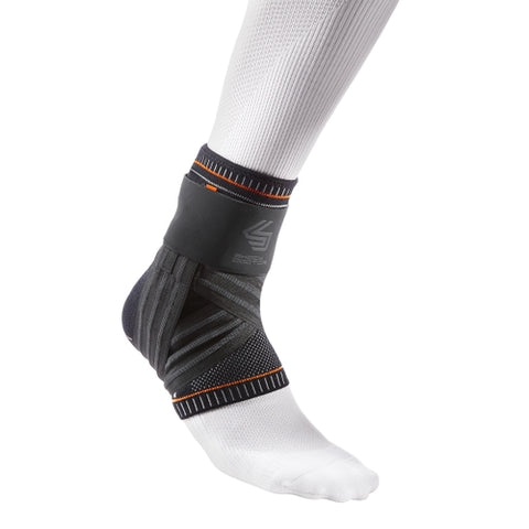 Shock Doctor 2052 Ultra Knit Ankle Brace with Figure 6 Strap and Stays - Black - HIT A Double
