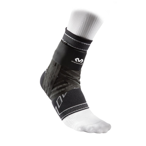 McDavid MD5146 Elite Engineered Elastic Ankle Brace with Figure 6 Strap and Stays Adult - Black - HIT A Double