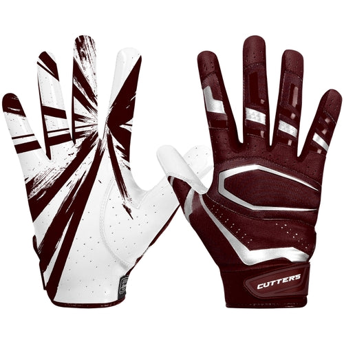 Cutters S452 Rev Pro 3.0 Gloves Adult - Maroon - HIT A Double