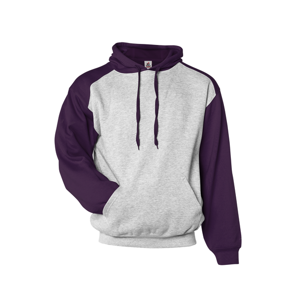 Badger 1249 Athletic Fleece Sport Hood - Oxford Purple