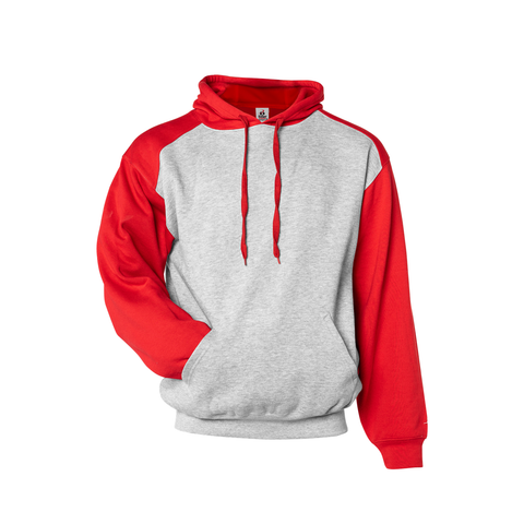 Badger 1249 Athletic Fleece Sport Hood - Oxford Red