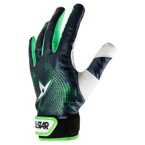 All-Star System 7 Adult Protective Catcher's Glove no Palm Pad - Black Green - HIT A Double