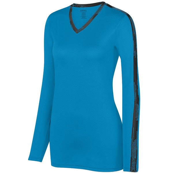 Augusta 1307 Ladies Vroom Jersey - Power Blue Black