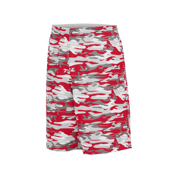 Augusta 1406 Reversible Wicking Short - Red Mod White