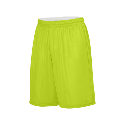 Augusta 1407 Youth Reversible Wicking Short - Lime White