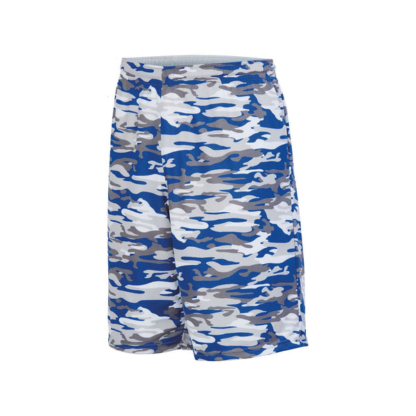 Augusta 1407 Youth Reversible Wicking Short - Royal Mod White