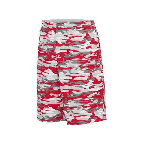 Augusta 1407 Youth Reversible Wicking Short - Red Mod White