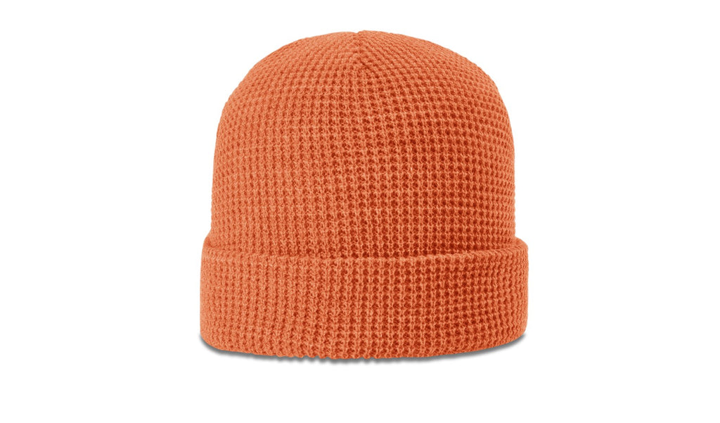 Richardson 146 Waffle Knit Beanie with Cuff - Coral