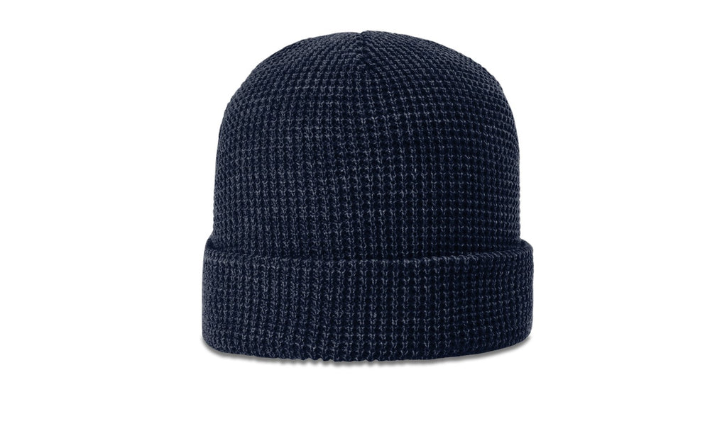 Richardson 146 Waffle Knit Beanie with Cuff - Navy