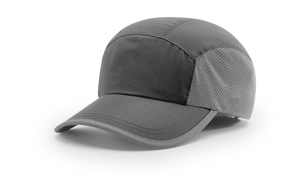 Richardson 150 Mesh Panel Running Cap - Black Charcoal