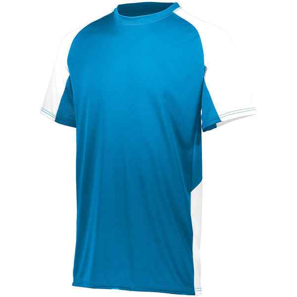 Augusta 1518 Youth Cutter Jersey - Power Blue White