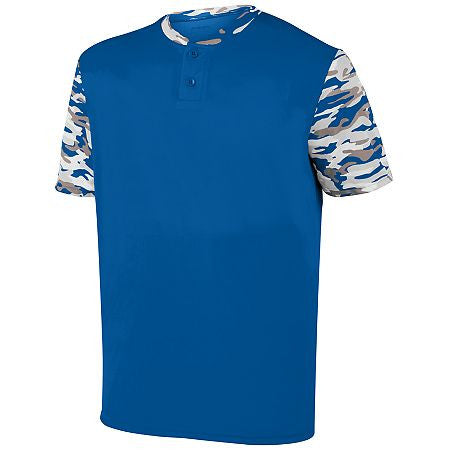 Augusta 1549 Youth Pop Fly Jersey - Royal Royal Mod - Baseball Apparel - Hit A Double