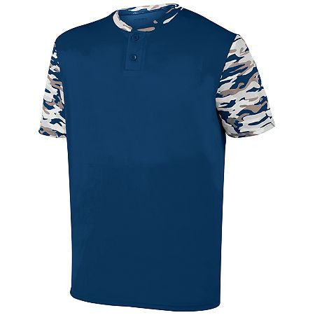 Augusta 1549 Youth Pop Fly Jersey - Navy Navy Mod - Baseball Apparel - Hit A Double