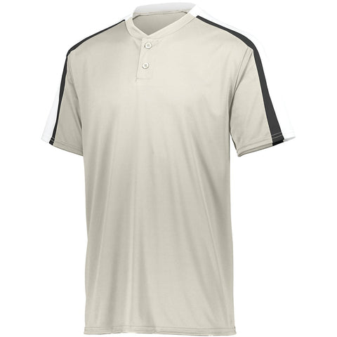 Augusta 1558 Youth Power Plus Jersey 2.0 - Silver Grey White Black