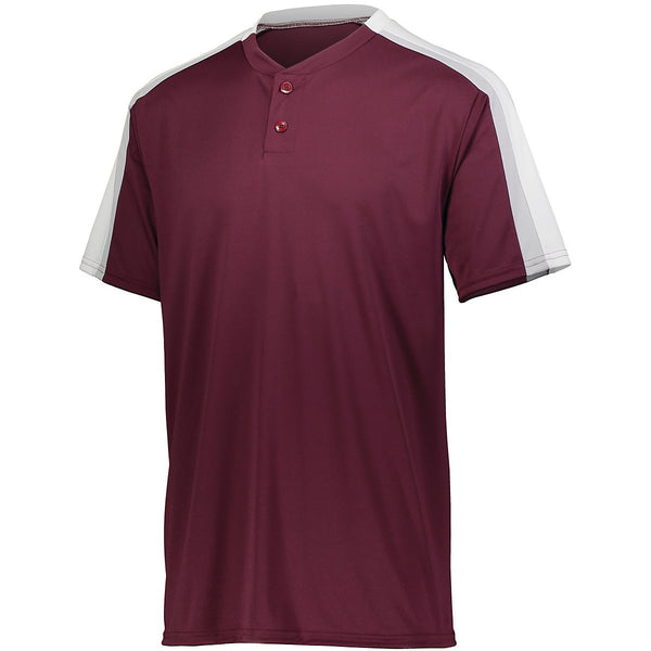 Augusta 1558 Youth Power Plus Jersey 2.0 - Maroon White Silver Grey