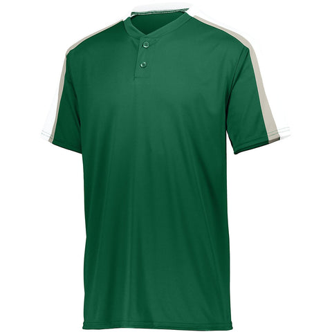Augusta 1558 Youth Power Plus Jersey 2.0 - Dark Green White Silver Grey