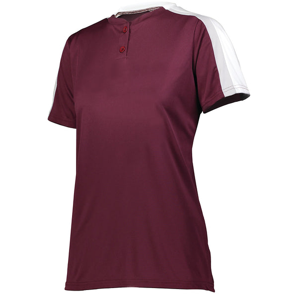 Augusta 1559 Ladies Power Plus 2.0 - Maroon White Silver Grey