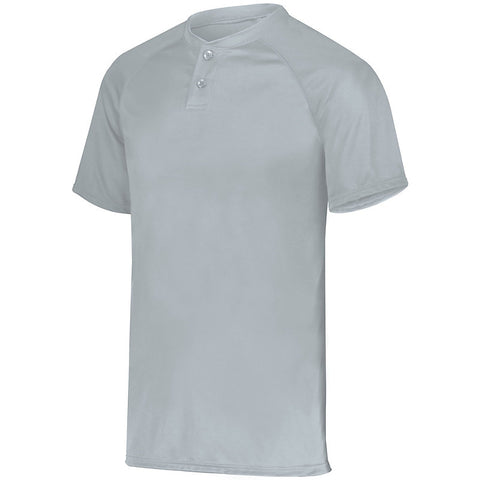 Augusta 1566 Youth Attain Two-Button Jersey - Silver