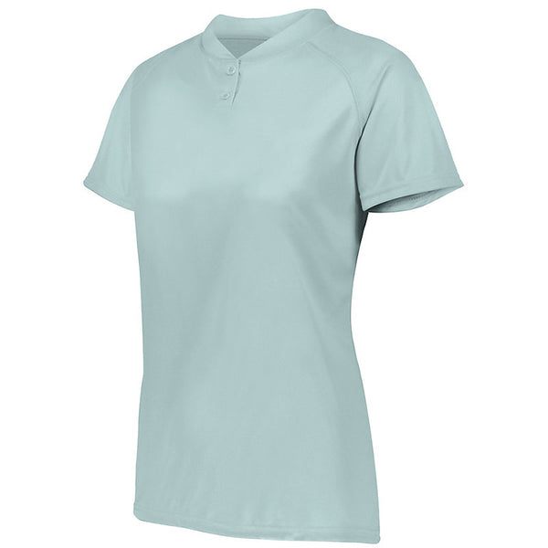 Augusta 1567 Ladies Attain Two-Button Jersey - Silver
