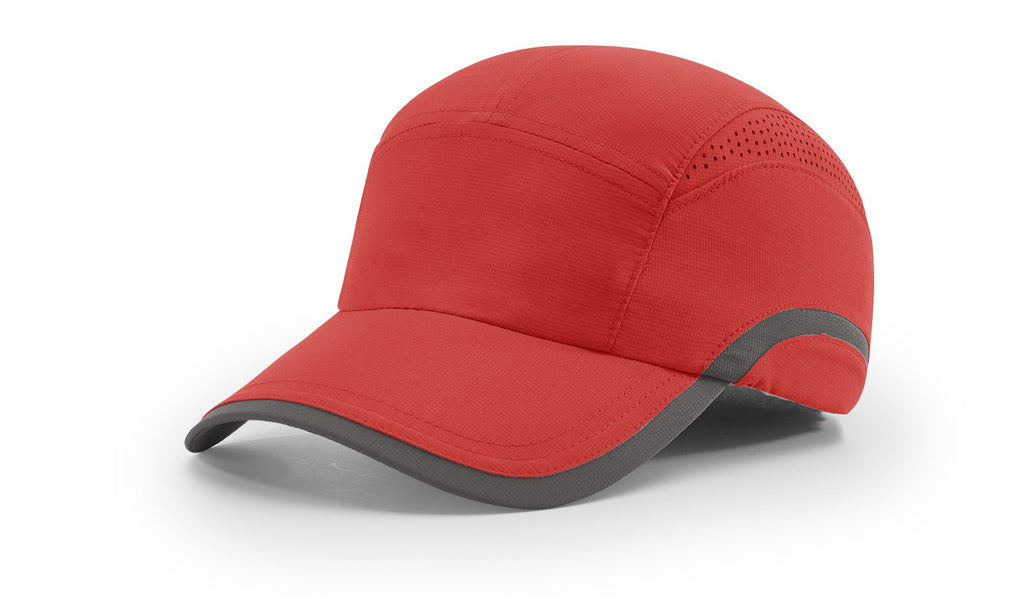 Richardson 158 Laser-Vented Running Cap - Red Charcoal