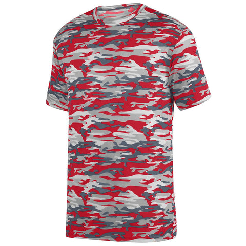 Augusta 1806 Mod Camo Wicking Tee Youth - Red Mod