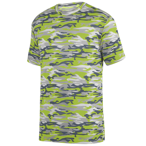Augusta 1806 Mod Camo Wicking Tee Youth - Lime Mod
