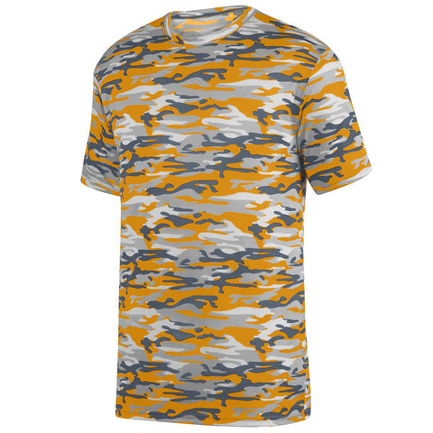 Augusta 1806 Mod Camo Wicking Tee Youth - Gold Mod