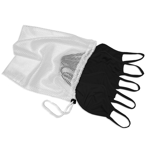 Badger 1930 B-Core 5 Pk Face Guard with Machine-Washable Mesh Laundry Bag - Black